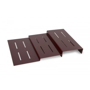 Plexi trap 3 treden BORDEAUX - 800x500x80mm