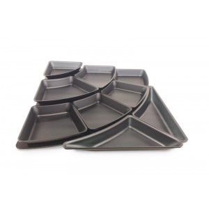 Plexi set amfitheater 1 - trap & 9 plateaus 50mm DARK SMOKE
