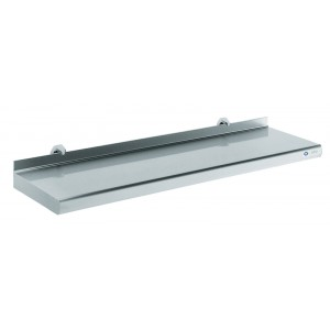 Wandrek met inox blad - 400x1000mm