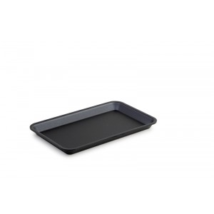 Plexi plateau GN 1/4 17 DARK SMOKE - 265x162x17mm