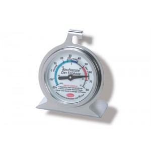 Koel/Vries thermometer rond  -29°C tot +27°C