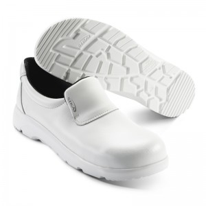 Mocassin met stalen top WIT 172111 - Optimax