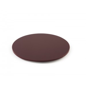 Plexi plaat rond + fixatie BORDEAUX - Ø250mm