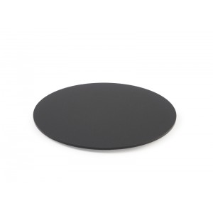 Plexi plaat rond + fix. DARK SMOKE - Ø200mm