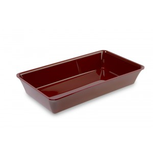 Plexi bak GN 3/4 80 BORDEAUX - 487x265x80mm