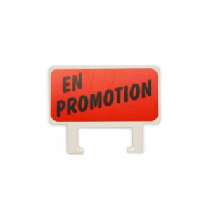 "Clips etiket stand. - 90 x 40mm ""EN PROMOTION"""