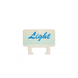 "Clips etiket spec. - 90 x 40mm ""LIGHT"""