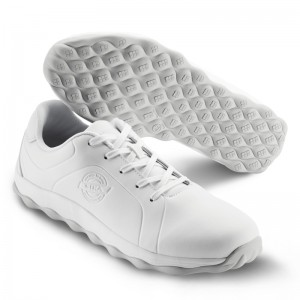 Chaussure + lacets cuir BLANC 50012-1 T.35-48 - Bubble/Step