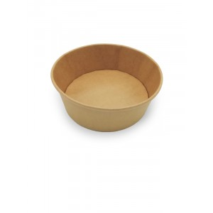 Salad bowl 1300ml KRAFT BRUN - PAR PIECE (50pcs/sac)