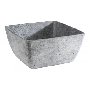 Saladier carré GRIS 250x250x120mm - 3l - Element