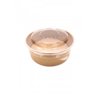 Salad bowl 200ml KRAFT BRUN - PAR PIECE (50pieces/sac)
