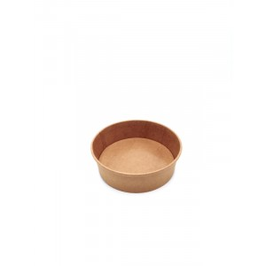 Salad bowl 500ml KRAFT BRUN - PAR PIECE (50pcs/sac)