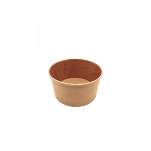Salad bowl 1000ml KRAFT BRUN - PAR PIECE (50pcs/sac)