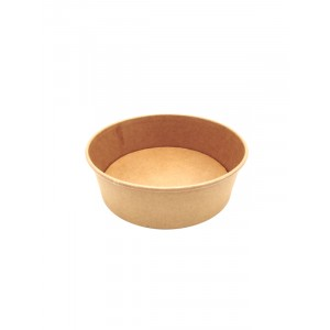 Salad bowl 1500ml KRAFT BRUN - PAR PIECE (50pcs/sac)