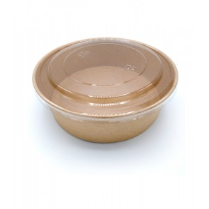 Salad bowl 2000ml KRAFT BRUN - PAR PIECE (50pcs/sac)