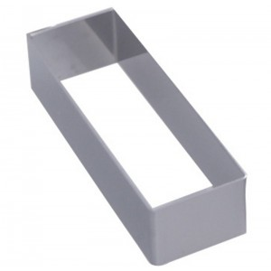 Cercle inox rectangulaire 120x43x40mm