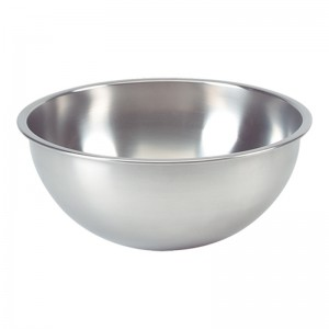 Bassine fond plat inox 18/8 - Ø205mm - 1,5l