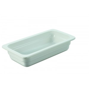 Plat rectangulaire GN 1/3 BLANC - 325x176x65mm - 1,9l