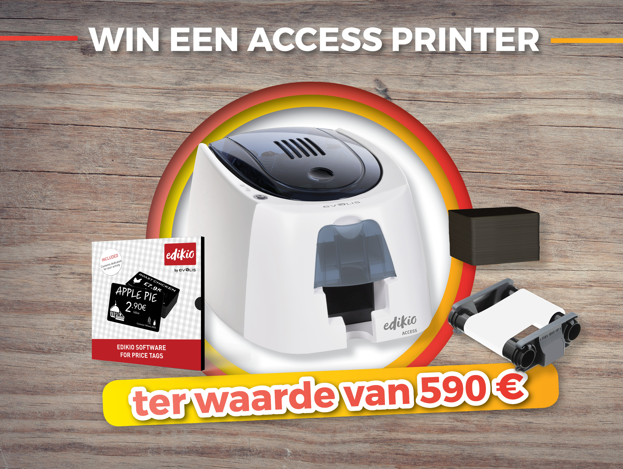 Win elke dag een Access Kaartprinter van Evolis t.w.v. 590 €